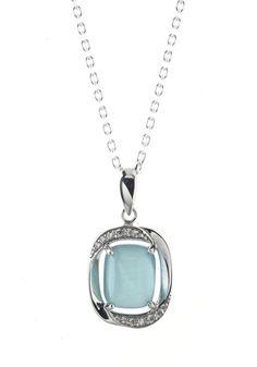 Parure chaîne et pendentif argent avec imitation pierres précieuses vert clair et zirconium blanc #bijoux #boucles #bijouterie #jeandelatour_officiel #bijoutier #bijouxfemme #bijouxcreateur #mode #collier