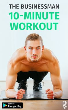 Fitness The Workout for Busy Men Mens Fitness, Fitness Tips, Health Fitness, Fitness Goals, Fitness Exercises, Body Fitness, Fun Workouts, At Home Workouts, Fitness Motivation