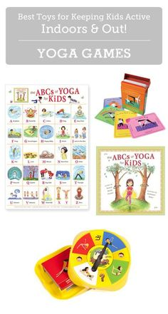 MPMK Toy Gift Guides: Best Yoga Toys for Kids- Yoga promotes health & self-esteem in kids while reducing feelings of helplessness and aggression. Plus it's a great way to burn off energy when stuck indoors! (Great gift guide - lots of toy description and suggested age ranges. Craft Activities, Toddler Activities, Toddler Snacks, Indoor Activities, Indoor Games, Creative Activities, Summer Activities, Family Activities, Yoga Games