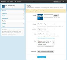 How to Set Up Your New Twitter Account 14 of 21  Save settings – see confirmation message