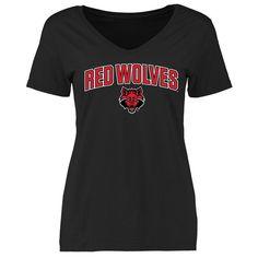 Arkansas State Red Wolves Women's Proud Mascot Slim Fit T-Shirt - Black
