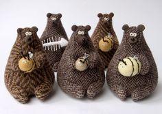 медведи Текстильные медведи от Анны Удаловой (IzTkaniRukami)