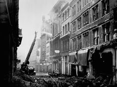 Arthur CrossFred Tibbs -- Bomb damage at the Old Bailey: 1941 -- High quality art prints, framed prints, canvases -- Museum of London Prints
