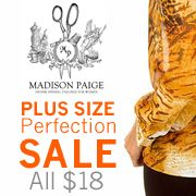 Madison Paige Collection Sale  The ticket to easy, breezy fall style is great color, so prepare yourself for struttin' down the sidewalk in these fabulous tunics and tops from Madison Paige. Whether you're a a chiffon-lover or prefer something a little more edgy, these cute looks really deliver on form, function, and fashion. Take your pick and enjoy timeless style that flatters all year long.