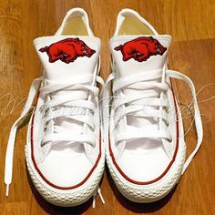 1bf903140 Customized Converse Sneakers- Razorback Edition