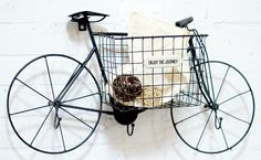 Bike Wall Decor, Bike Decor, Wall Basket