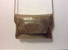 Vintage Gold Lame Small Evening Clutch with by MzVintageAffair3, $22.00