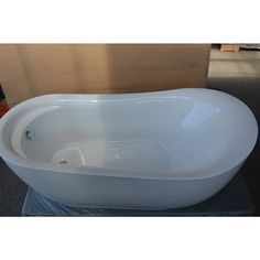 Cada freestanding, cu montaj pe pardoseala, de la producatorul Super Spa, model Q-142, disponibila cu dimensiuni de 179x87 cm, fabricata din acril, culoare alb. Bathtub, Bathroom, Model, Standing Bath, Washroom, Bathtubs, Bath Tube, Full Bath