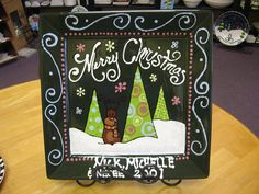 Christmas Plate by The Pottery Stop Gallery!, via Flickr