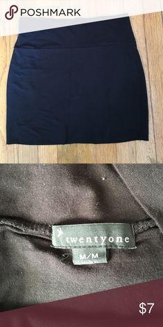 Black Mini Skirt Simple black mini skirt. Perfect condition Forever 21 Skirts Mini