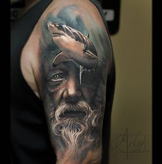 Poseidon & Shark Sleeve