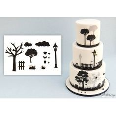 Countryside silhouette set / landskabs silhuetter