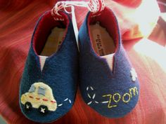 Zoom Wool Felt Baby Shoes Sizes 1-6 by PracticalCharm on Etsy ♡