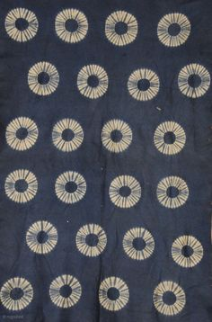 have to try this technique... // Resist dyed felt,  Indigo dye  Japan  Late 19th/ early 20th Century