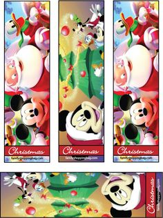 5 Best Images of Mickey Mouse Bookmarks Free Printable - Mickey Mouse Christmas Bookmarks, Free Printable Disney Bookmarks and Mickey Mouse Printable Bookmarks Mickey Mouse Christmas, Christmas Books, Disney Christmas, Kids Christmas, Christmas Crafts, Christmas Presents, Xmas, Disney Bookmarks, Bookmarks Kids