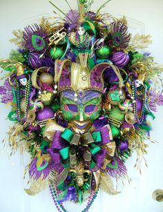 Mardi Gras Wreath.