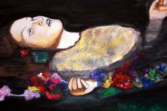 Acuarela sobre papel por Belén Vargas.   Cita pictórica / Prerrafaelistas / Clase de Arte