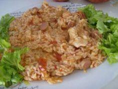 Arroz de Peru e Salsichas