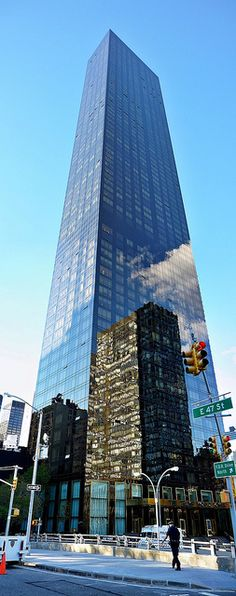 The Trump World Tower.  Residential highrise at 845 United Nations Plaza. NEW YORK CITY.  (Paul Anthony Moore, via Flickr)