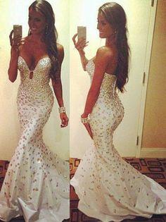 Long Mermaid Prom Dress Evening Dress Women Party