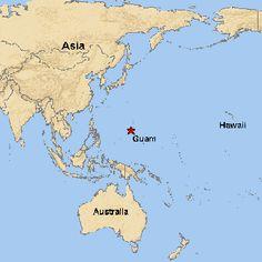 Guam On The World Map - DARARTESPHB