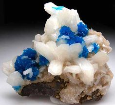 Cavansite with Stilbite $ 450 Wagholi Quarry, Poona, India small cabinet - 9 x 8 x 3 cm