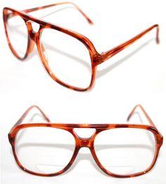 138a087f00 Men s True Vintage Thick Hombre Aviator Bifocal Reading Eye Glasses Ember  Brown  Unbranded Aviator Glasses