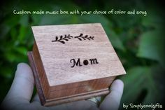Check out this item in my Etsy shop https://www.etsy.com/listing/210585812/music-box-wooden-music-box-gift-for-mom