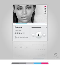 Music Player UI by Gala Turman, via Behance