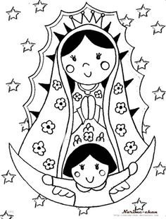 Our Lady Of Guadalupe Coloring Page - 32 Our Lady Of Guadalupe Coloring Page , Virgen De Guadalupe Coloring Pages Our Lady Line Free Catholic Crafts, Catholic Kids, Catholic Saints, Faith Crafts, All Saints Day, Blessed Mother, Coloring Book Pages, Religious Art, Collage