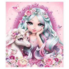 DIY diamond Painting full square round drill embroidery Girl and unicorn picture Mosaic Cross Stitch Home Decor Gifts Diamond Drawing, 5d Diamond Painting, Mosaic Crosses, Mosaic Pictures, Mosaic Diy, Cool Paintings, Animal Paintings, Diy For Girls, Girl Cartoon