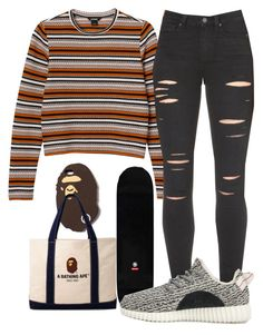 """Untitled #101"" by rich-princesa ❤ liked on Polyvore featuring A BATHING APE, Monki, Paige Denim and adidas Originals"