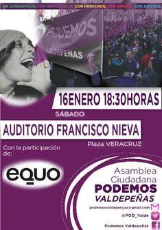 Convocatoria de Asamblea Ciudadana de Podemos en Valdepeñas