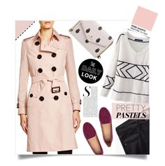 """""""Burberry #Quartz Trench Coat"""" by sara-86 ❤ liked on Polyvore featuring Burberry, H&M, MANGO, Kate Spade, women's clothing, women's fashion, women, female, woman and misses"""