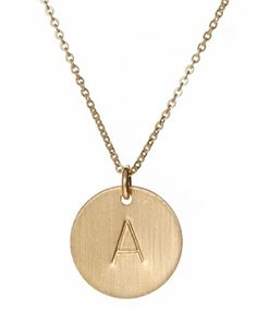 """Gold Jewelry - I'm thinking this but with an """"N"""" @Tami Lahmann"""