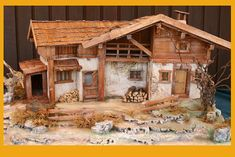 Medieval Houses, Foods With Calcium, Christmas Nativity, Fairy Houses, Cabin, House Styles, Home Decor, Nativity Sets, Xmas