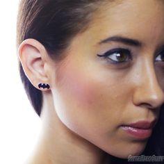 Batman Black Die-Cut 316L Surgical Steel Stud Earrings
