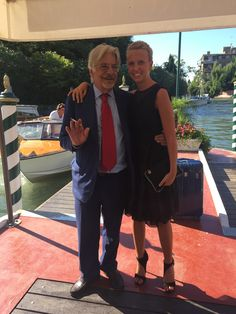"""Actors Giancarlo Giannini and Giorgia Marin arrive at the Excelsior hotel for """"A Bigger Splash"""" premiere during the 72nd Venice Film Festival"""