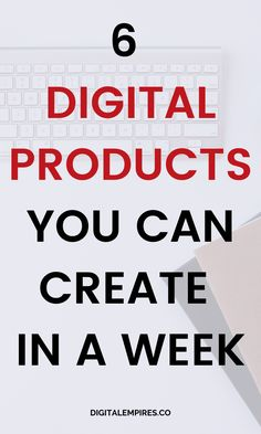 Looking to create your own digital products to sell? These 6 digital product ideas you can make in a week for free and start making passive income alr Make Money Blogging, Make Money Online, How To Make Money, Product Ideas, Blogging For Beginners, Online Business, Etsy Business, Business Ideas, Blog Tips
