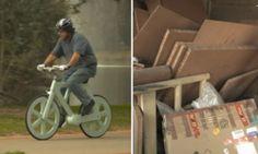 Wow! Bike feita de papelão.