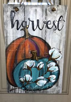 Fall-Harvest Door Hanger -reclaimed wood