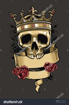 Vector Skull Wearing A King Crown - 118719070 : Shutterstock