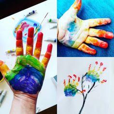 Rainbow painting Toddler