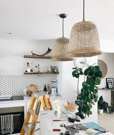 20 of the coolest Kmart hacks EVER! Kmart baskets turned into stylish boho coastal pendant lights