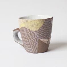 Etched Ceramic Mug 3/8 by Elizabeth Pechacek