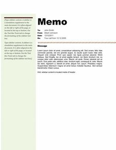 Green Gradient Memo Design  Memo Template Free