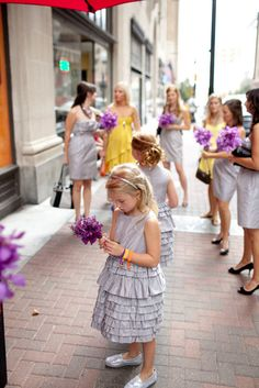 Love these little J.Crew flower girl dresses! + sparkly @TOMS ! Photography by joshmccullock.com