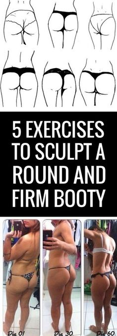 Workout Routines for all Body Parts : 5 tough exercises to sculpt a round and lifted booty. - All Fitness Fitness Motivation, Fitness Diet, Fitness Goals, Health Fitness, Modelos Fitness, Kettlebell, Get In Shape, Stay Fit, Glutes