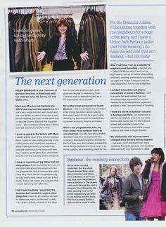 Article from Woman and Home Magazine about the transformation of the Barbour Brand by Dame Margaret Barbour. Page 3...