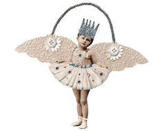 Paper Angel Ornament White Shabby Decoration by RememberMeEmily, $10.00